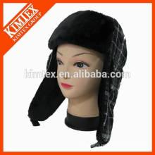 Теплая зима горячей продажи высокого качества поддельные меха earflap снег шляпу