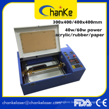 Rubber Stamp Plastic Paper Wood 40W CO2 Laser Machine