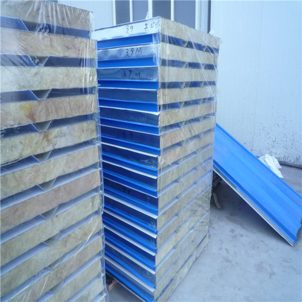 75mm rock wool sandwich roofing panels