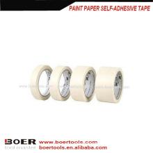 Malen Sie selbstklebendes Papier-Abdeckband / selbstklebendes OPP Masking Crepe Tape