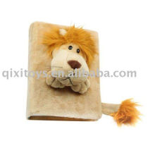 stuffed lion photo frame, plush animal toy picture ablum
