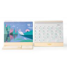 Офсетная Печать Полного Цвета Изготовленный На Заказ Календар Стола