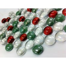 Mármol de cristal plano, decoración de mesa de Navidad