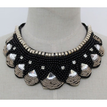 Lady Costume Jewelry Fashion Crystal Chunky Necklace Collar (JE0174)