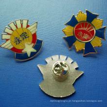 Emblema feito sob encomenda do metal da colagem, Emblema Epoxy-Dripping (GZHY-BADGE-029)