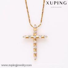 31733-Xuping Religious jewellery image of gold jesus cross pendant