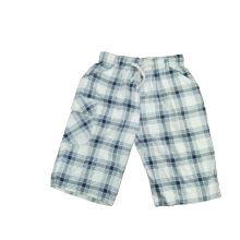 Los pantalones cortos al por mayor del muchacho del algodón con el cheque imprimieron (SP003)
