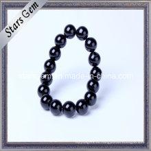 Pulsera de ágata negra natural para joyería