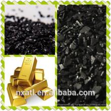 carbón de coco activado utilizado para extraer oro