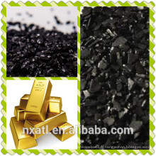 charbon actif de noix de coco utilisé pour l'extrait d'or