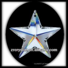 Pingente de candelabro de cristal em forma de estrela K9