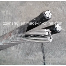 Câble aérien Aluminium ACSR Triplex 2AWG Conch