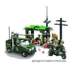 Ataque série designer blockhouse detecção de militares 285PCS blocos brinquedos