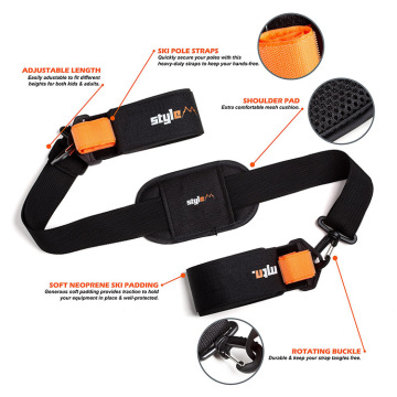 Support de sangle de ski Ceinture de fixation d'épaule de snowboard