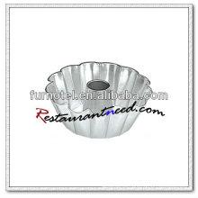 V423 Aleación de aluminio anodizado estriado Bundt Cake Pan