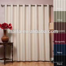 Latest curtain designs 100% polyester, dyeing, plain shade weave, blackout curtain fabric