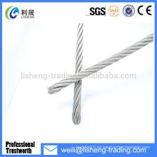 Cable de acero galvanizado eléctrico 6 * 19 para la grúa