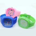 Fashion Boys Silicone Shining Quartz Wristwatches