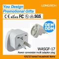 Hight productos de calidad doble socket uk con usb, ce rohs aprobado socket de escritorio con usb