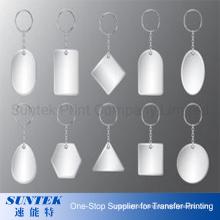 Sublimation Printing Blank Plastic Keychain
