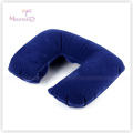PVC Flocking Inflatable Neck Air Pillow for Traveling 44X27.5cm