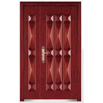 Стандартный Размер Безопасности Стальные Деревянные Входные Двери