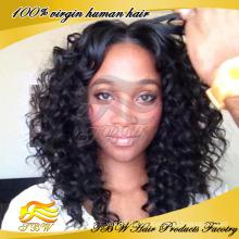 Лучшее качество 5А класс Малайзии человеческих волос кудрявый вьющиеся U часть парик
