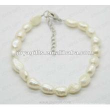 Moda Joya 2012 água doce Pérola Beads Anklet