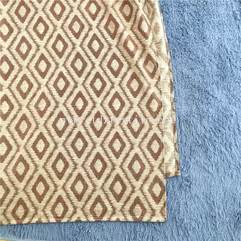 6016 Chocolate American Popular Linen Touching Polyester Curtain Fabric