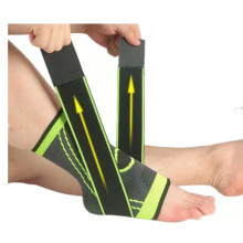 Hot Sale Pressurized Adjustable Elastic Ankle Support Ankle Brace Protector with Strap