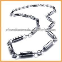 Homens cadeia colar de aço inoxidável colar de corrente design