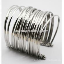 316L stainless steel Punk large bangles