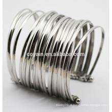 Punhos de aço inoxidável 316L grandes pulseiras