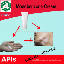 Behandlung von Vitiligo Produkt Monobenzone für Whitening Creme / Pulver 30%, 40%, 50%, 60%