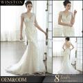 высокое качество Cap рукавом бисером украшения русалка свадебное платье