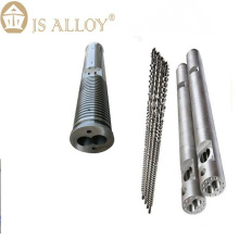 Plastic extruder parallel twin screw and barrel