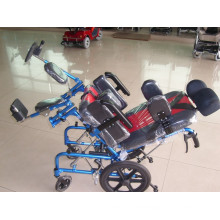 Reclining High Backrest Type Manual Wheelchair for Cerebral Palsy Children
