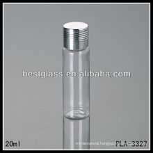 20ml plastic screw cap bottles, silver cap, PET bottle use for cosmetic or medicine