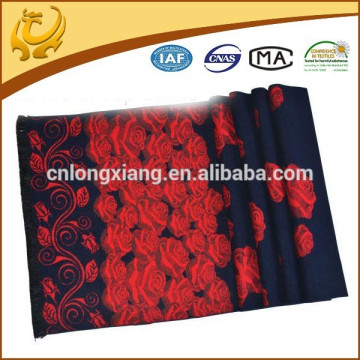 Arab Head Rose Jacquard And Brushed Woven Wholesale Scarf For Women