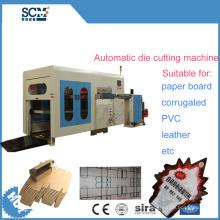 Cuero, PVC corrugado, máquina de corte de papel