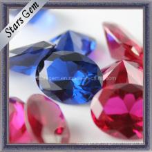 Gemstone semi-precioso Beads 5 # Ruby e 34 # Sapphire para Jóias
