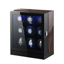 Nine Rotors Watch Winder Dengan Lampu LED