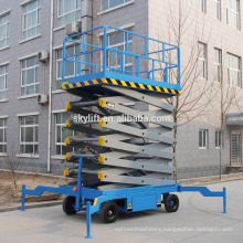 Movable electro-hydraulic scissor lift