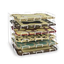6m m de la tapa del contador del alambre de metal 6-Tier Exhibición al por menor de encargo Exhibición que exhibe el estante de exhibición del colchón de Placemat