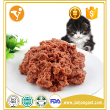Fabricação de fábrica de fábrica saboroso sabor de lanche sabor alimentos de gato enlatados