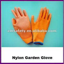 Sicherheits-PU-Handfläche beschichtet Nylon Gartenhandschuh