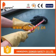 Guantes de látex amarillo claro para el hogar DHL312
