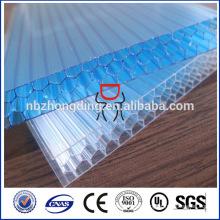 100% virgen bayer material policarbonato panal hoja de techo