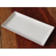 Fischplatte-Tellergrillplatte-Steakplatte der weißen rechteckigen Platte keramische Plattenfischplatte westliche