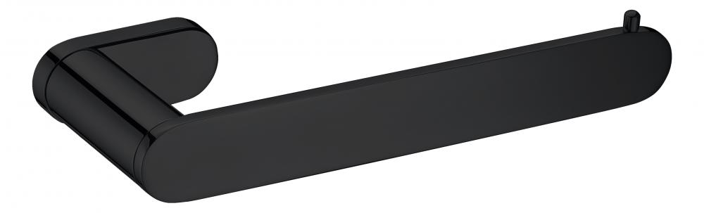 Black straight towel bar